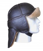 Long Neck Bomber Sheepskin Flying Helmet Bilhjälm GREYCAR
