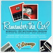 Remember this car? Memory-bilspel Retromega