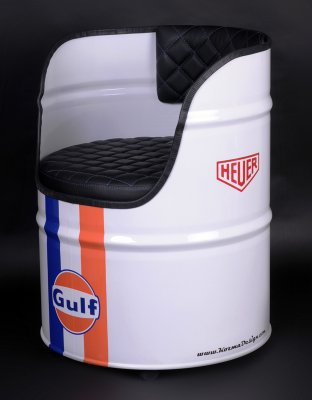 Oljefatsstol GULF oil drum seat FUTURE