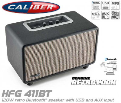 Caliber Bluetooth RETRO högtalare HFG411BT