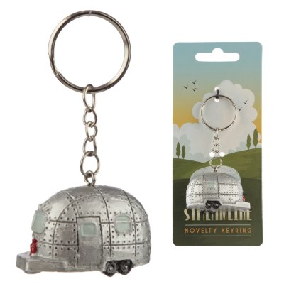 Silver Streamline Husvagn Nyckelring Airstream