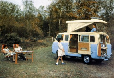 Gratulationskort - Husbil Motto-Caravan by Peter Pitt 1962
