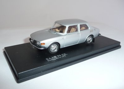 SAAB 99 GL 1975 Sterling Silver, 1/43, Nordic Collection