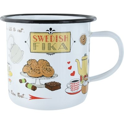 Emaljmugg Swedish fika 51303